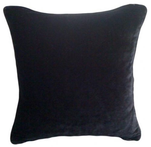 LARGE SIZE SOFT FEEL VELVET PLUSH STYLISH DESIGNER CUSHION COVER BLACK COLOUR